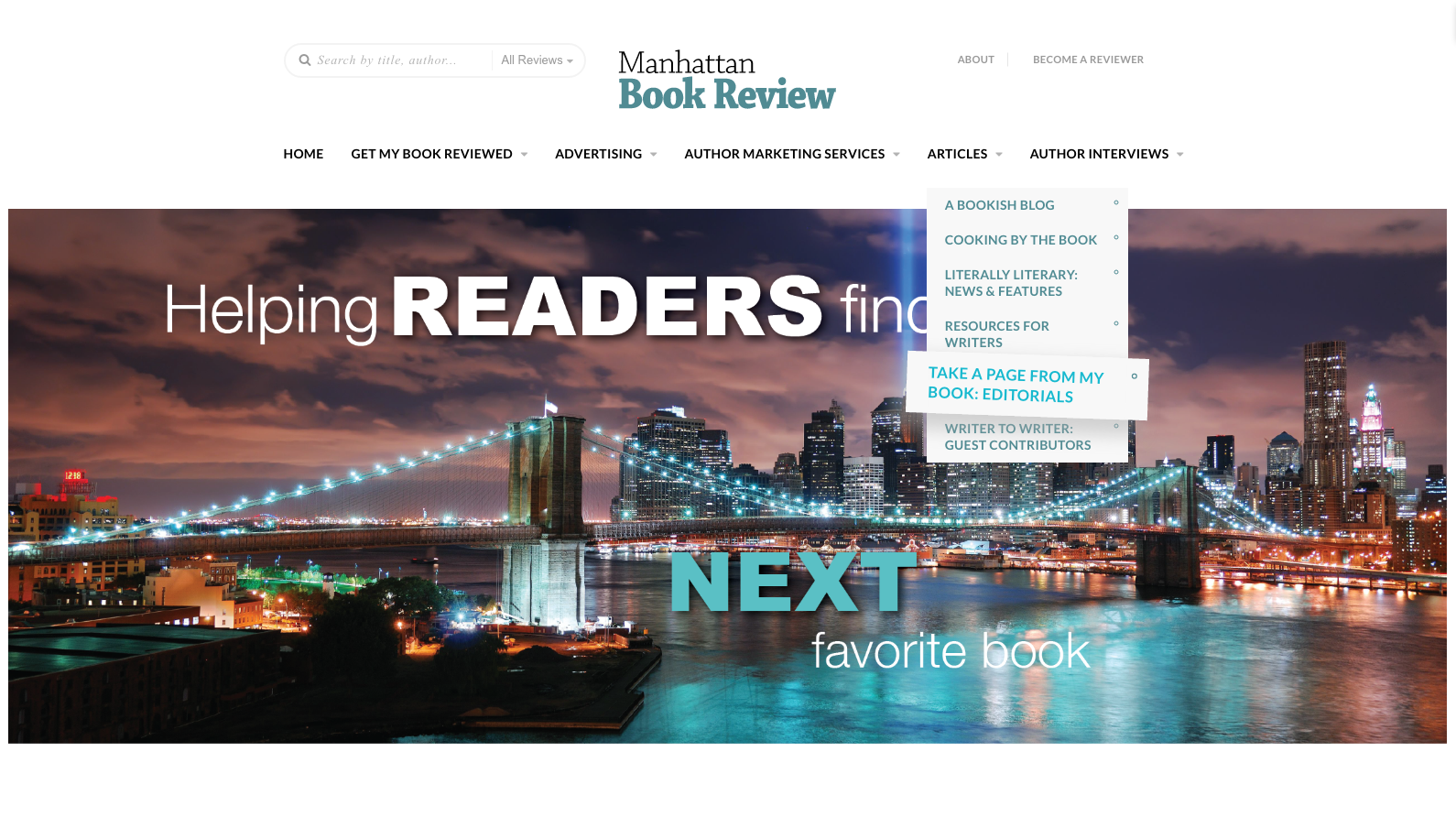 ManhattanBookReview.com Website